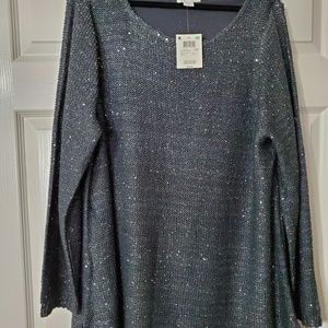 Black sequin lined sweater